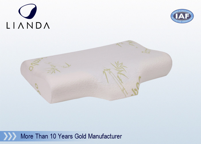 Visco Elastic Memory Foam Pillows Velour Fabric Customized Moulded