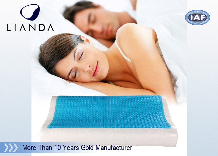 Visco rectangle Cooling Gel Pillow , wave summer cooling gel memory pillow