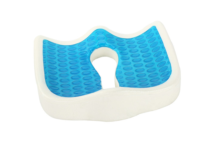 Coccyx Orthopedic Memory Foam Seat Cushion , Durable Cooling Gel Seat Cushion
